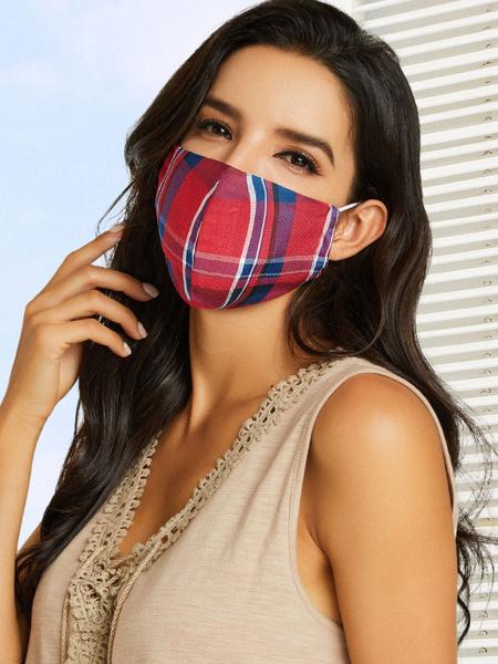 Milanoo Disfraz Halloween Mascara de la mascarada de la tela escocesa para los accesorios del traje 3pcs por el paquete Halloween