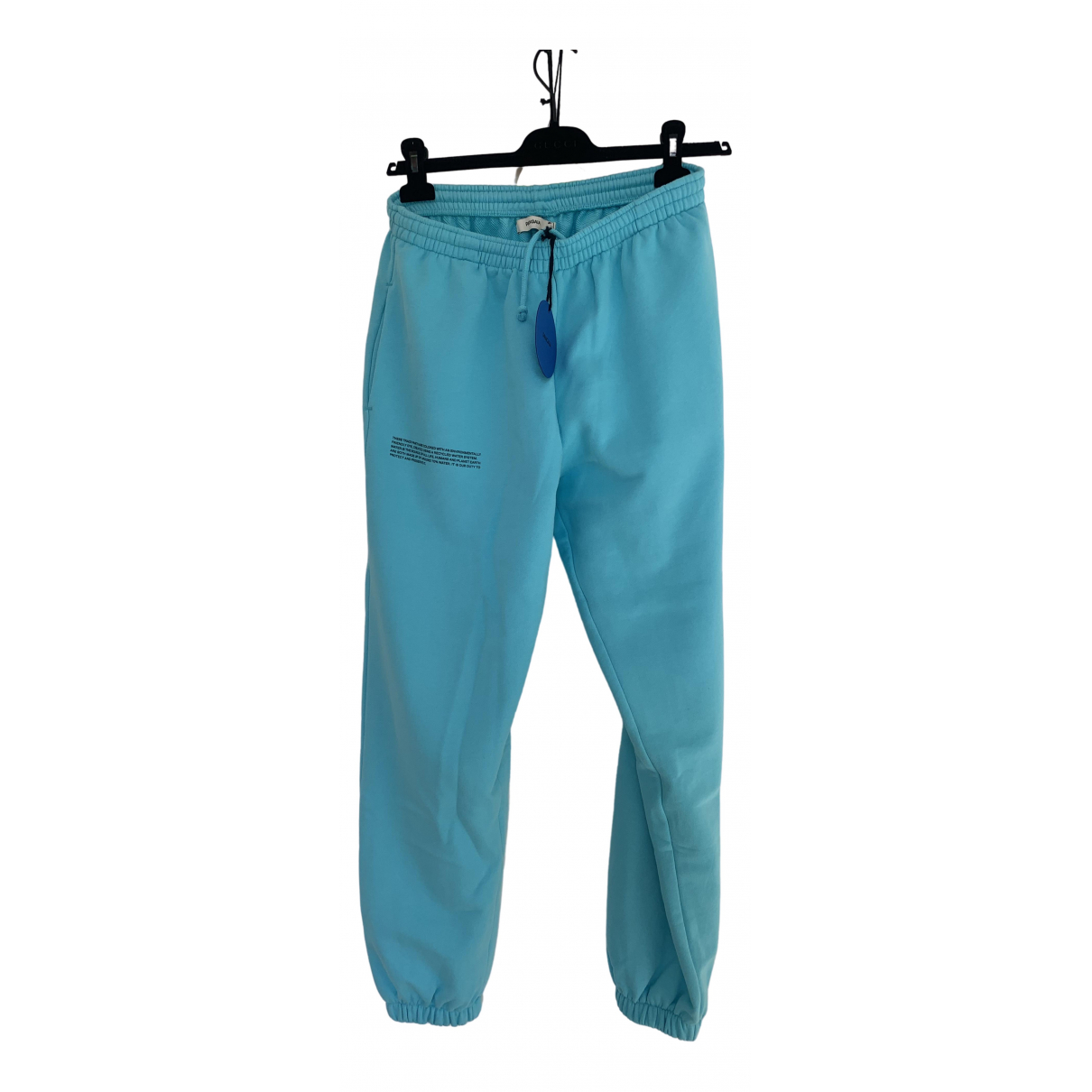 The Pangaia \N Turquoise Cotton Trousers for Men S International