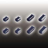 Copal Electronics Through Hole DIP Switch Single Pole Single Throw (SPST) 100 (Non-Switching) mA, 100 (Switching) mA Slide (36)
