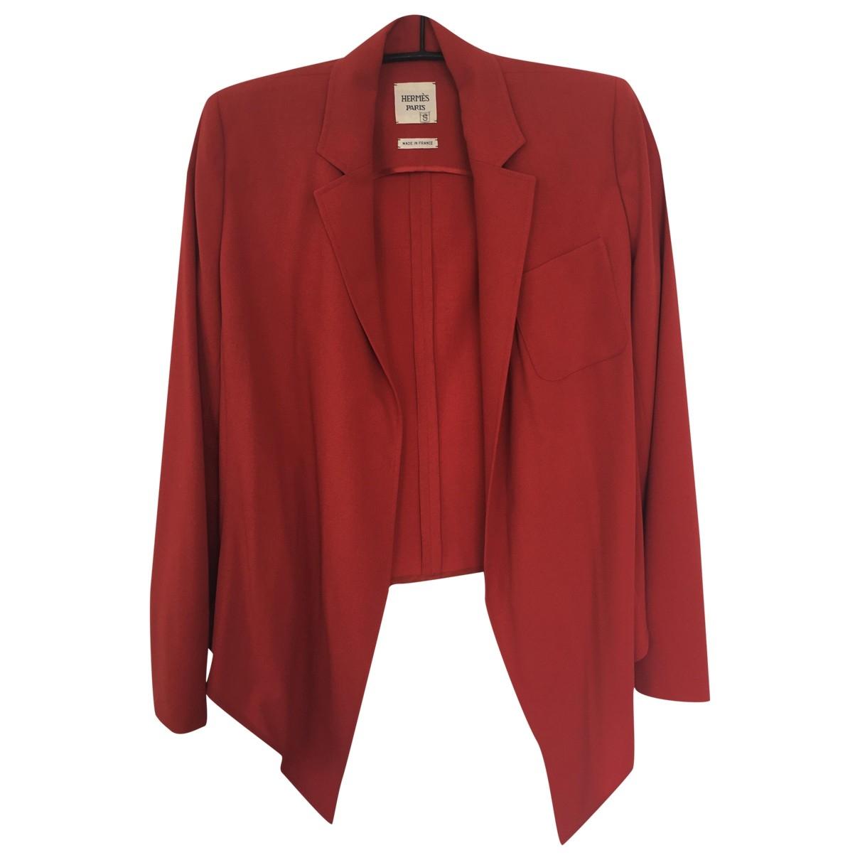 Hermès \N Red Wool jacket for Women 40 FR