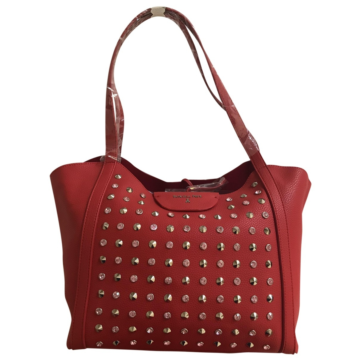 Patrizia Pepe \N Handtasche in  Rot Leder