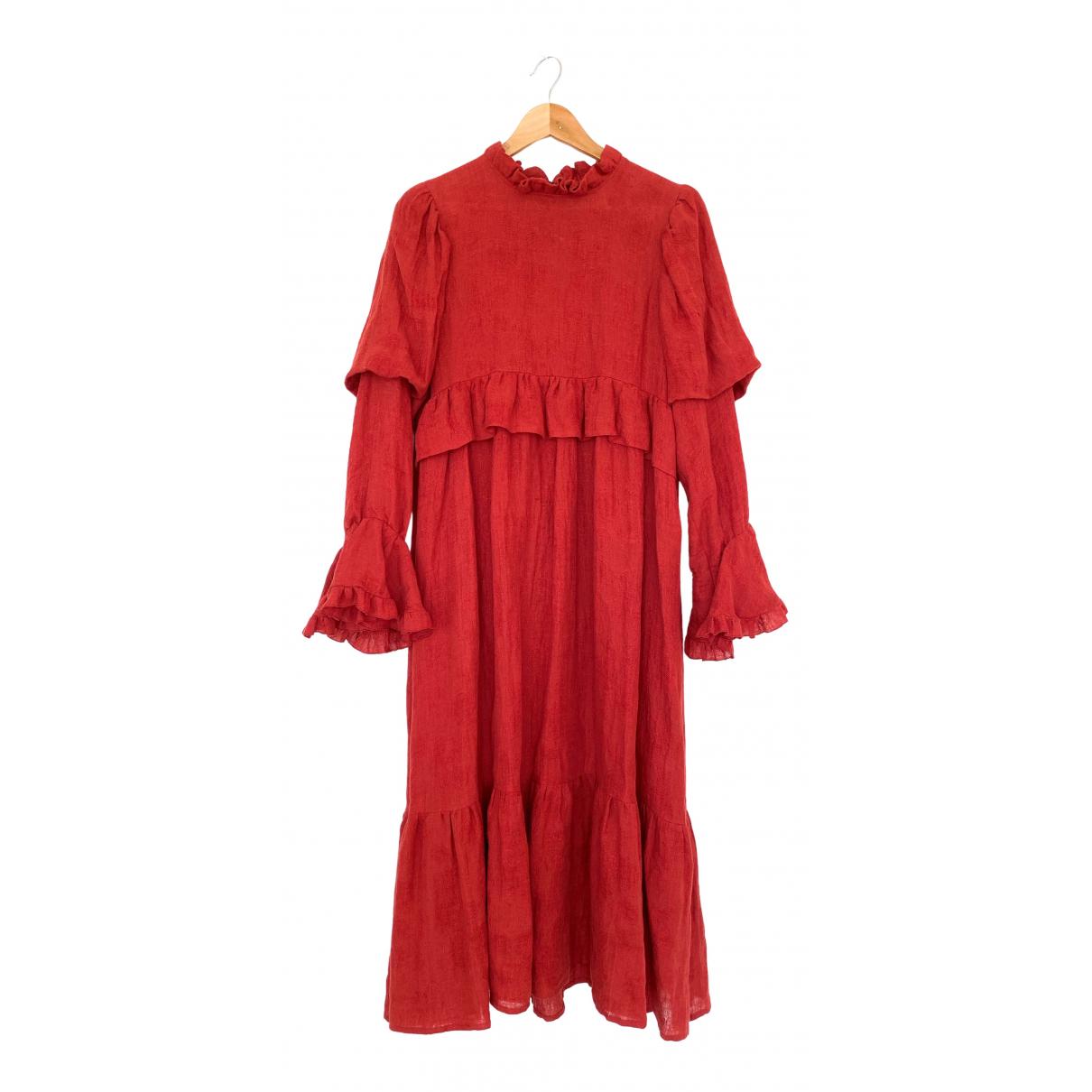 Maxi vestido Hippie Chic de Lino Non Signe / Unsigned