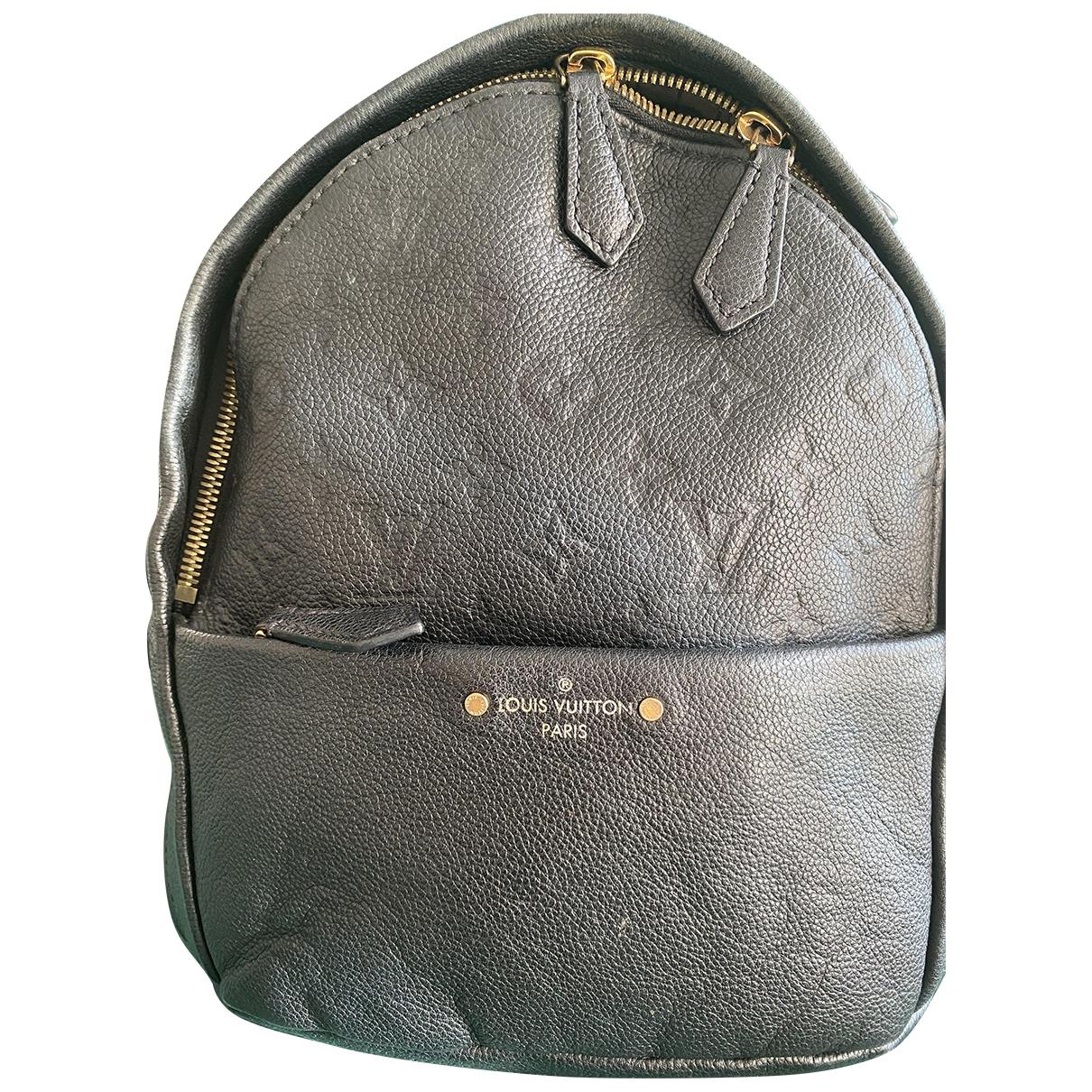 Louis Vuitton - Sac a dos Sorbonne Backpack pour femme en cuir - noir
