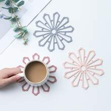 1pc Hollow Out Flower Shaped Coaster