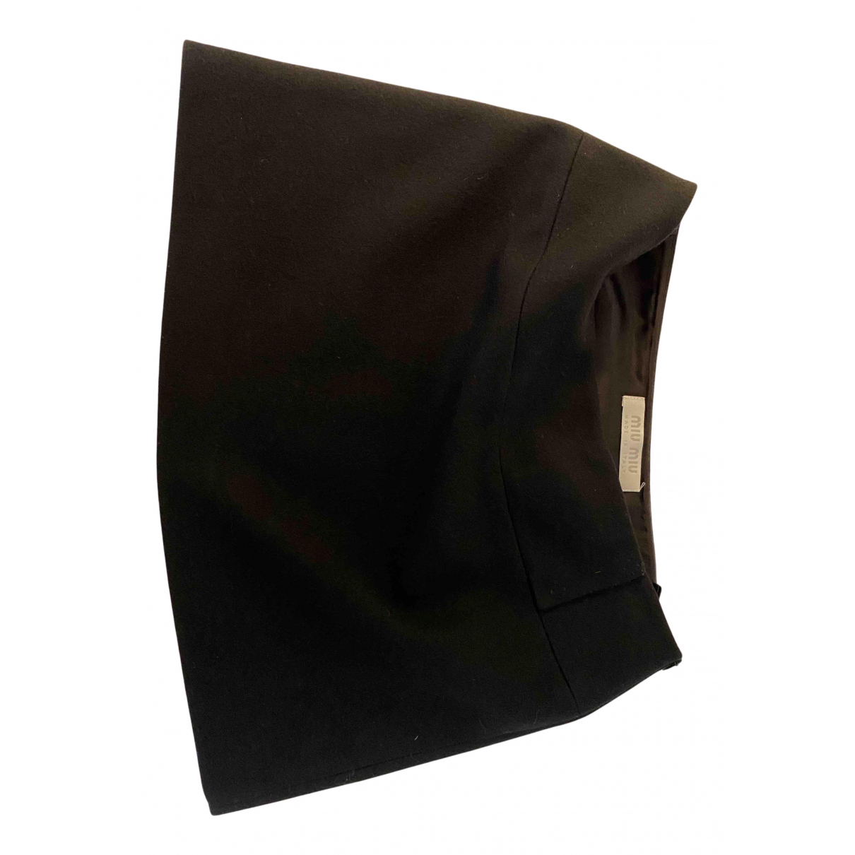Miu Miu N Black Wool skirt for Women 44 IT