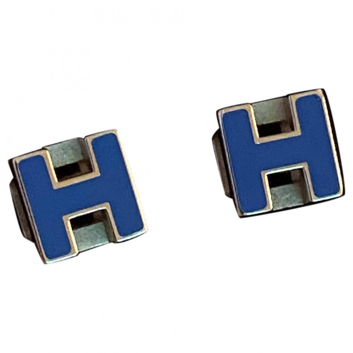 Hermès Pop H Blue Silver Earrings for Women \N