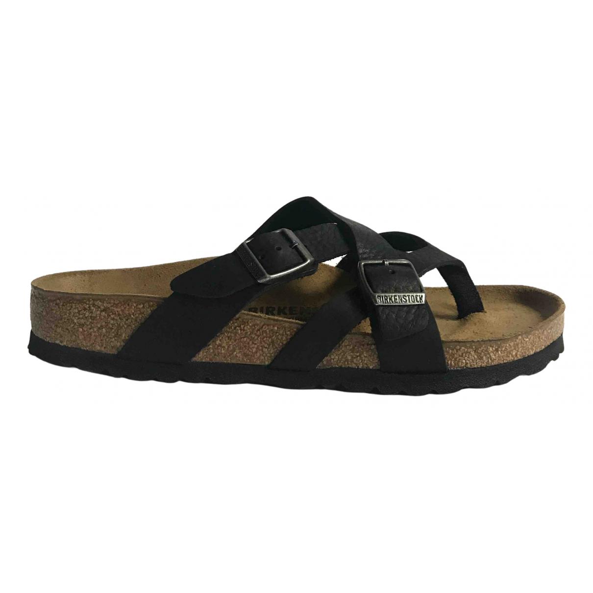 Birkenstock - Sandales   pour femme en cuir - noir