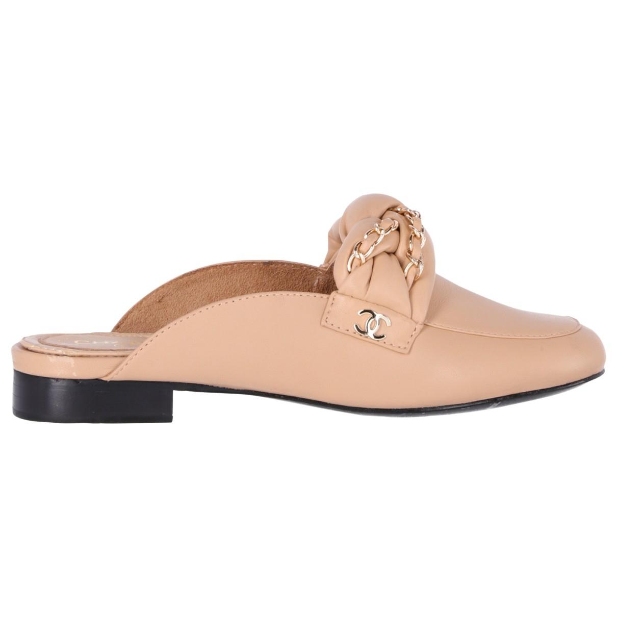 Chanel \N Beige Leather Sandals for Women 36 EU