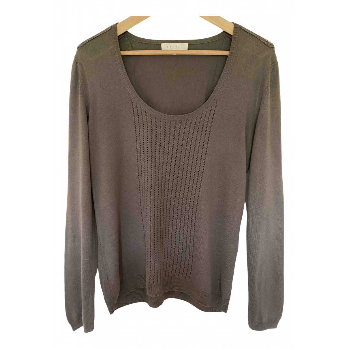 Sandro N Khaki Silk Knitwear for Women 1 0-5