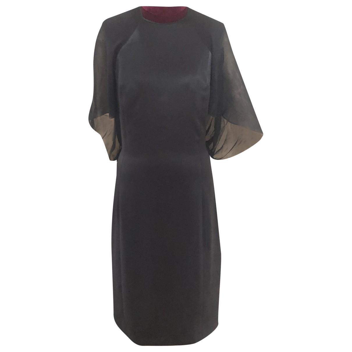 Salvatore Ferragamo - Robe   pour femme en soie - noir