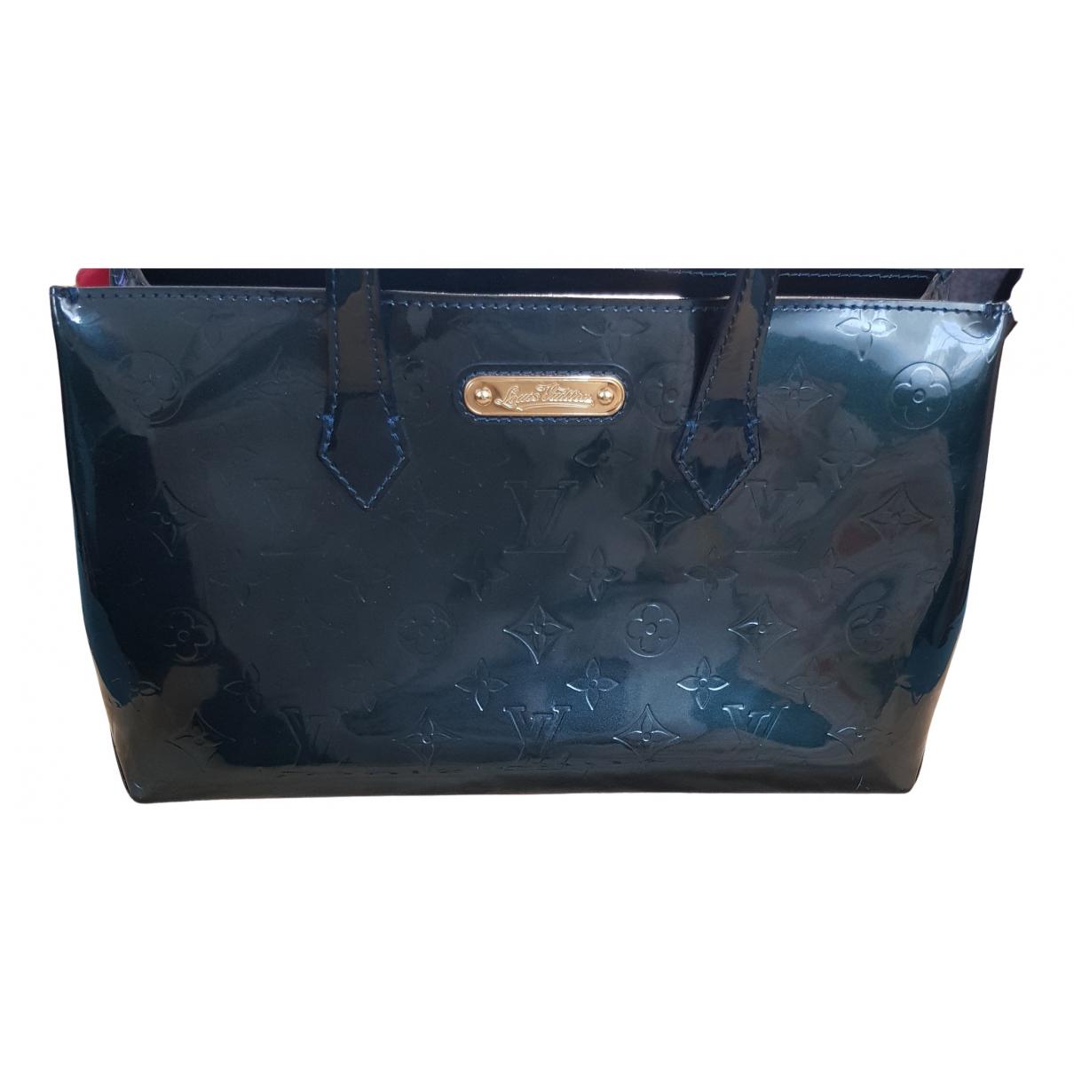 Louis Vuitton - Sac a main Wilshire pour femme en cuir verni - vert