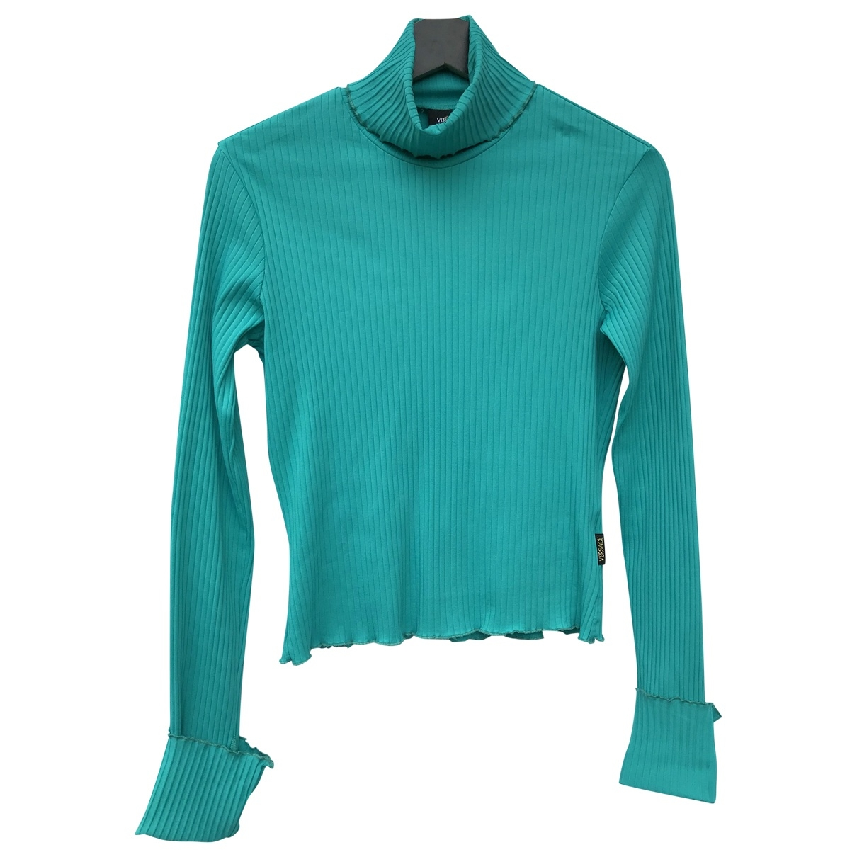 Versace Jeans \N Pullover in  Tuerkis Synthetik