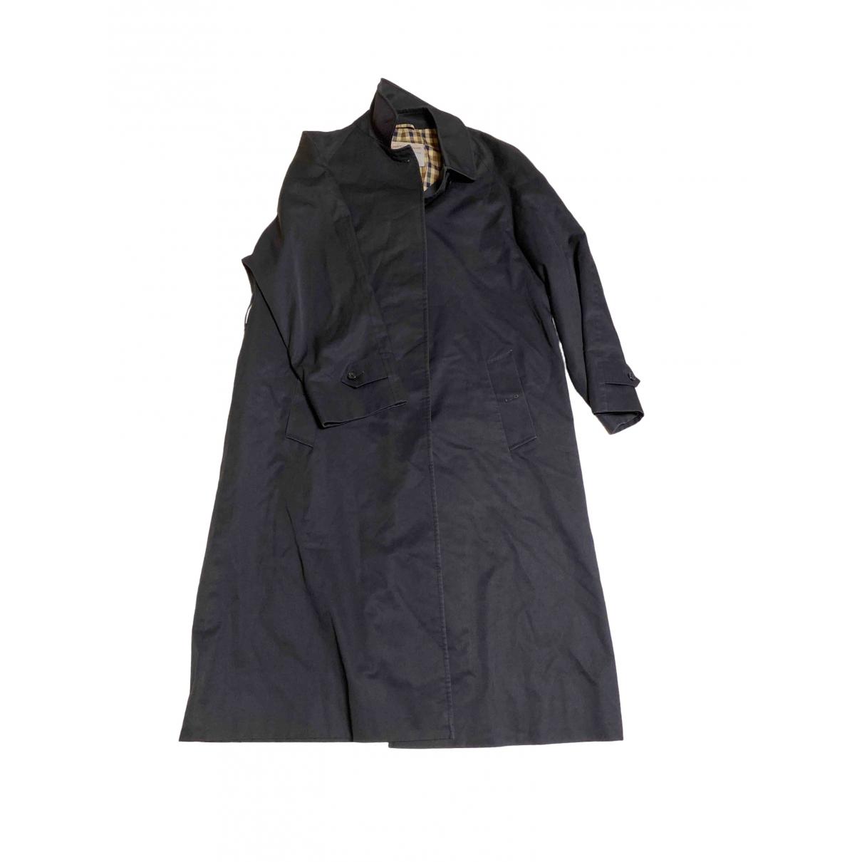 Aquascutum - Manteau   pour homme en coton - noir