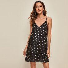 Cami Kleid mit Punkten Muster