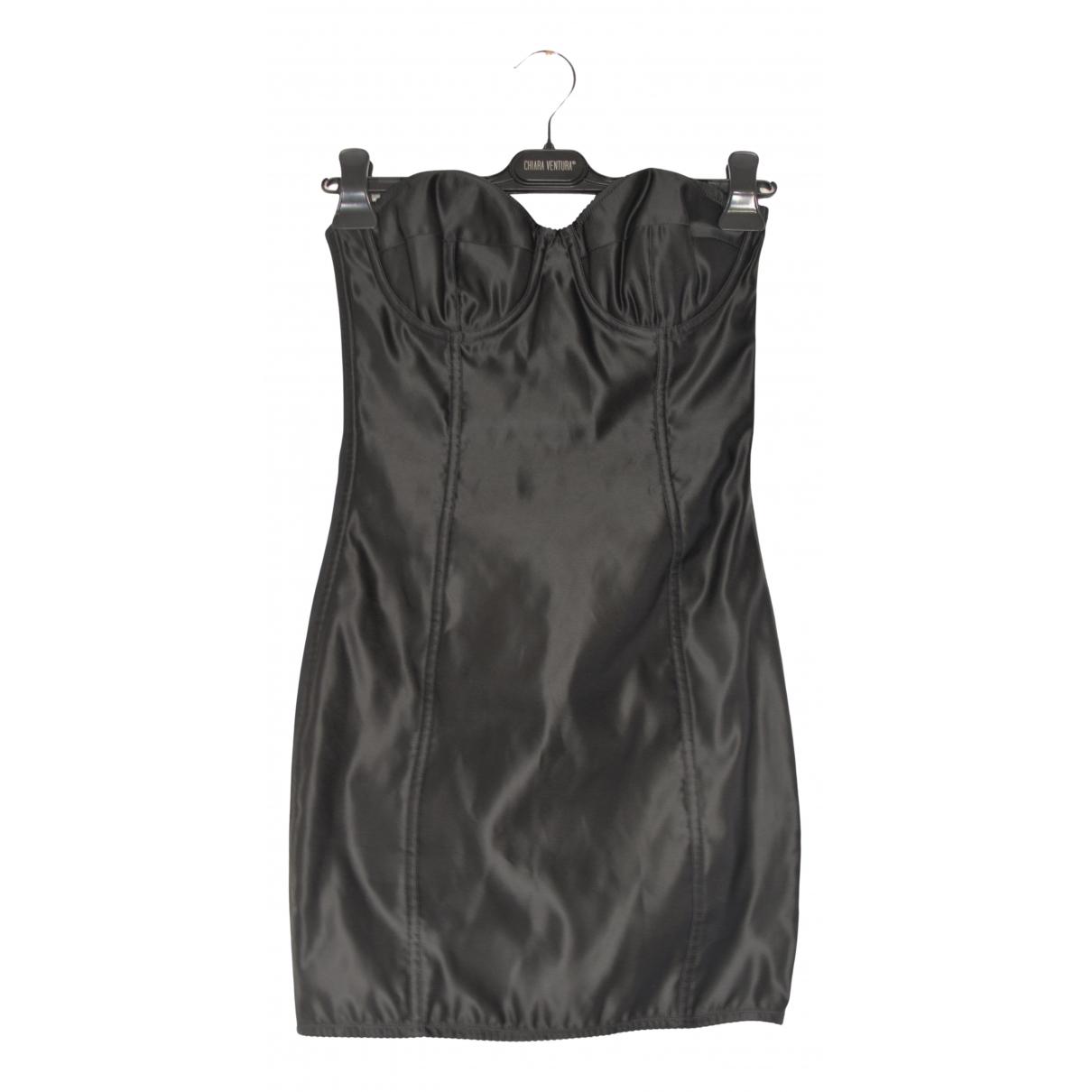 Dolce & Gabbana \N Kleid in  Schwarz Synthetik
