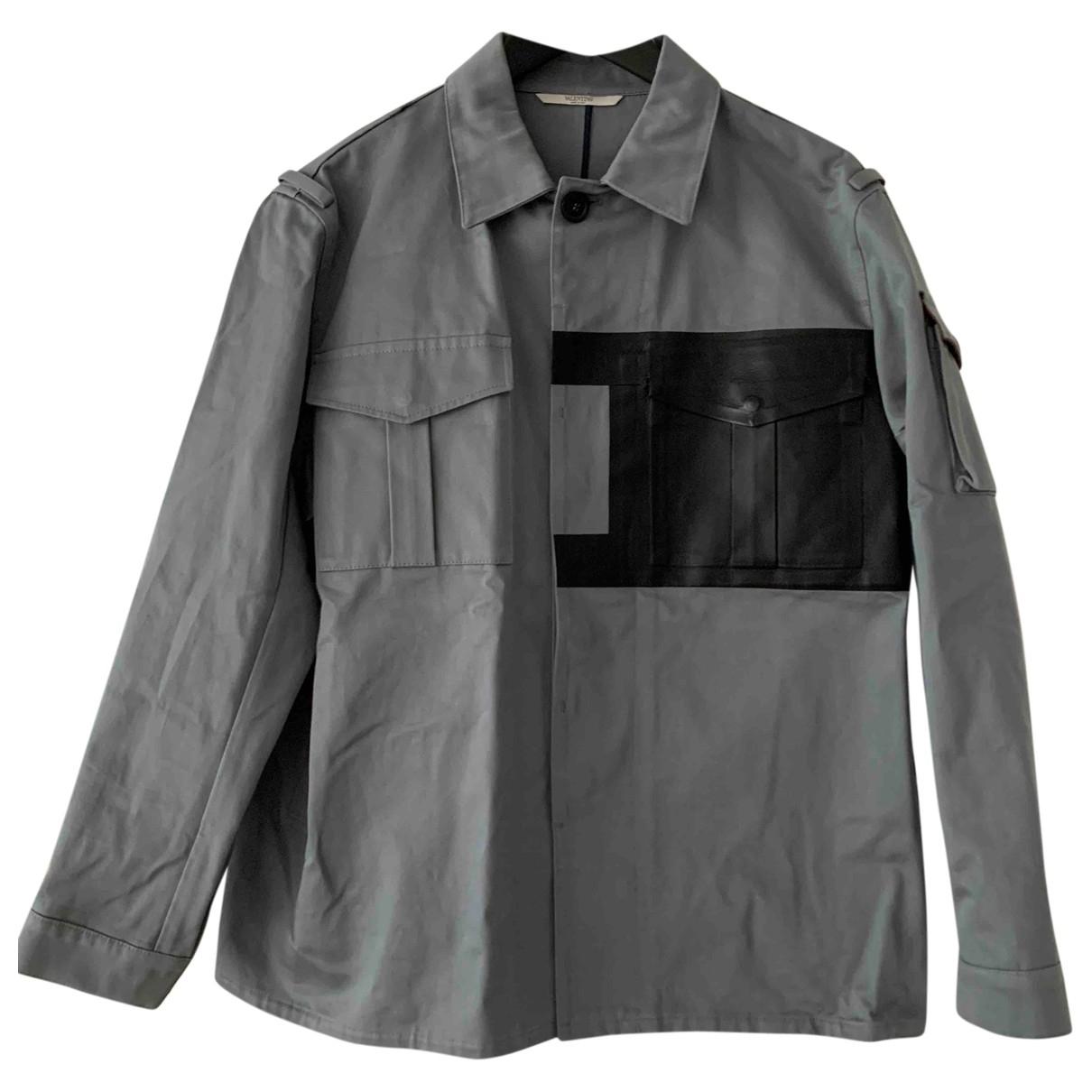 Valentino Garavani \N Grey Cotton jacket  for Men 46 FR