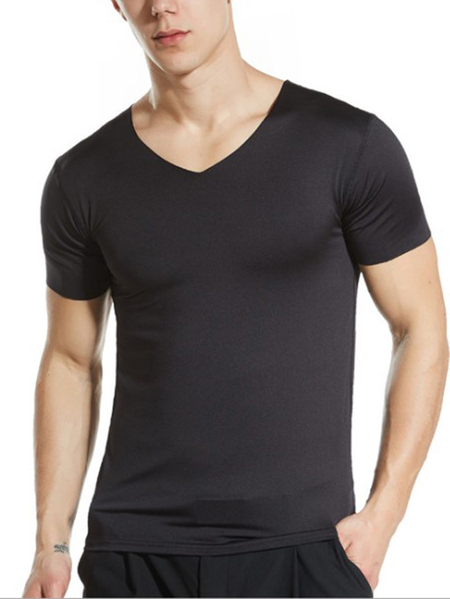 Yoins Men Sporty Undershirt Anti-Sweat V-Neck T-Shirt