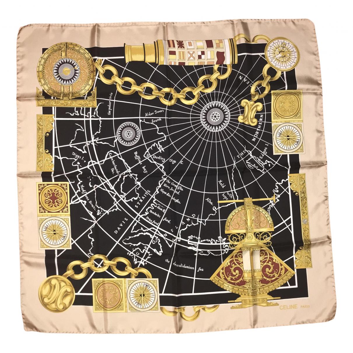 Celine N Black Silk Silk handkerchief for Women N