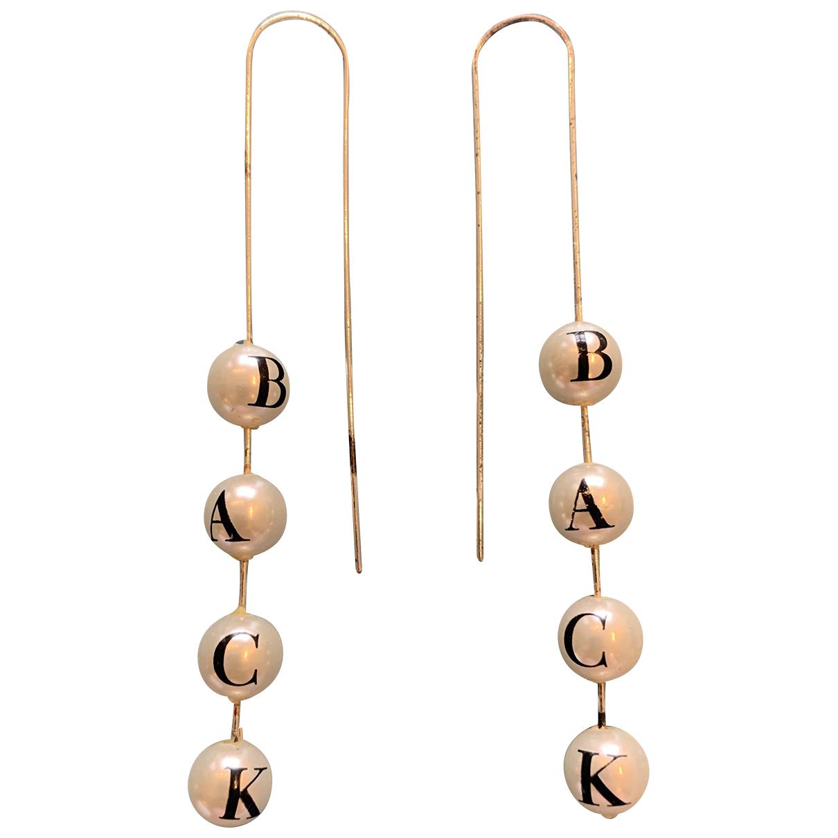 Ann-sofie Back - Boucles doreilles   pour femme en perles - blanc