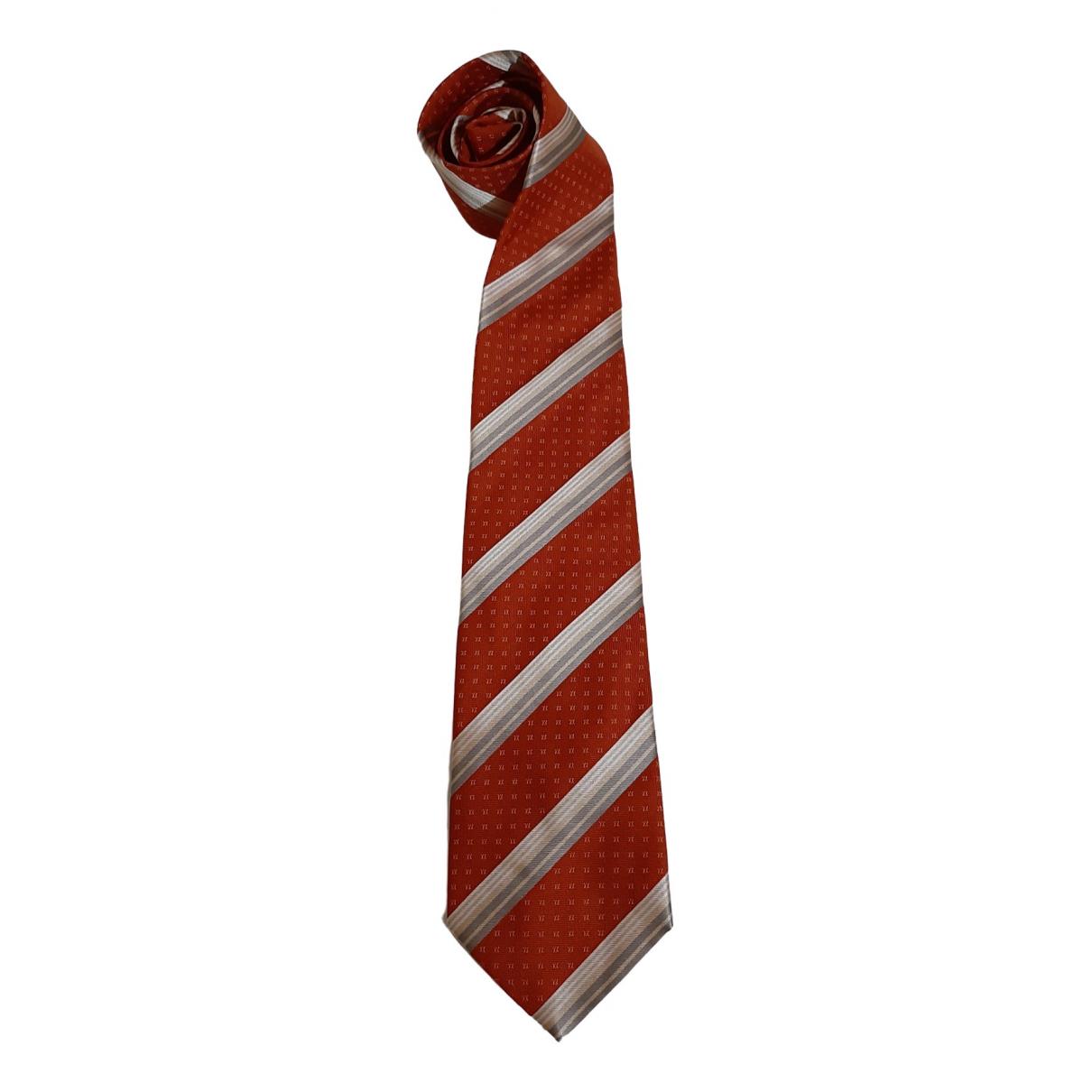 Celine - Cravates   pour homme en soie - orange