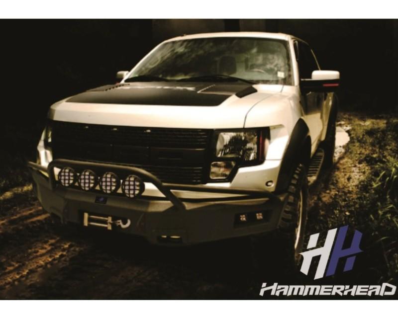 Hammerhead Armor 600-56-0128 Raptor Front Winch Bumper Pre Runner For 10-14 Raptor Black Steel