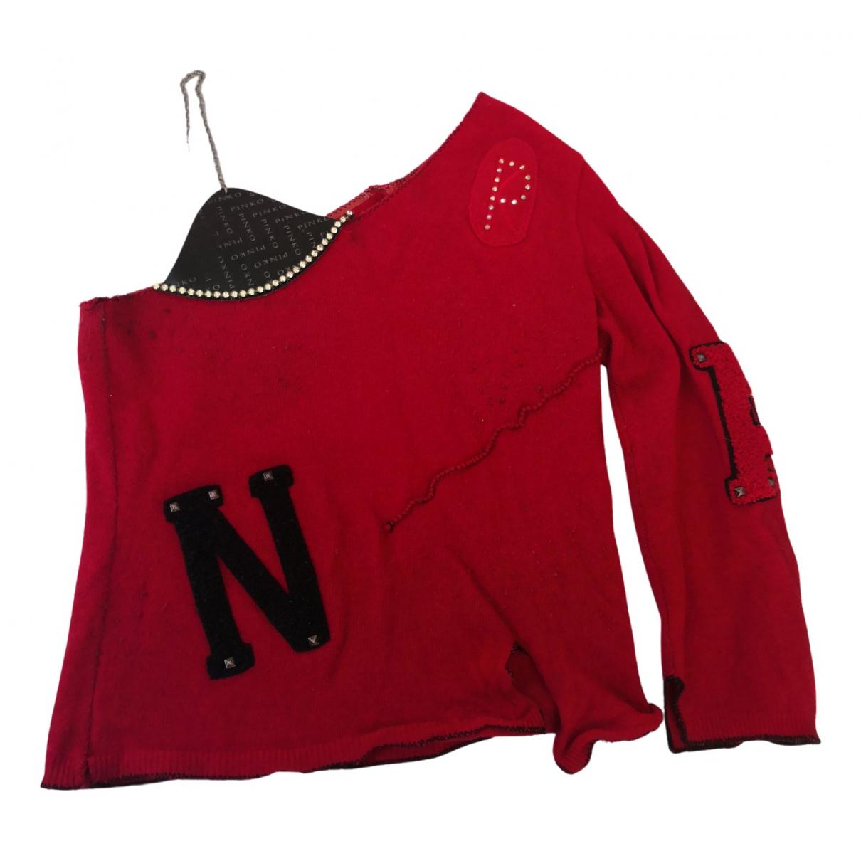 Pinko - Pull   pour femme en laine - rouge