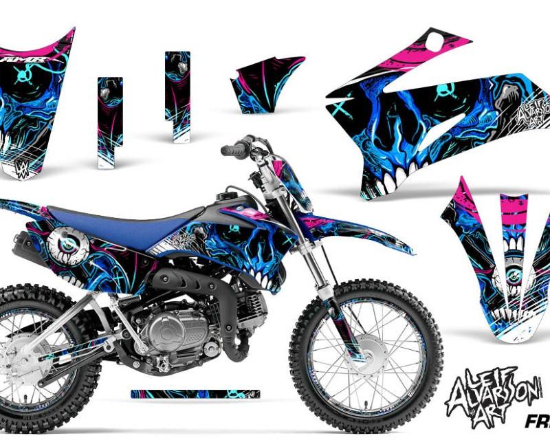 AMR Racing Graphics MX-NP-YAM-TTR110-08-18-FZ U Kit Decal Sticker Wrap + # Plates For Yamaha TTR110 2008-2018áFRENZY BLUE
