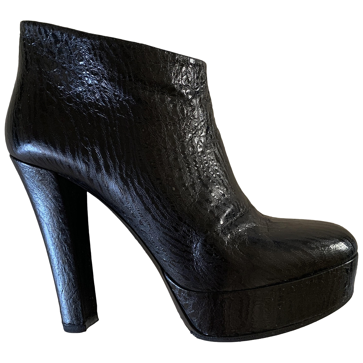 Viktor & Rolf - Boots   pour femme en cuir - noir