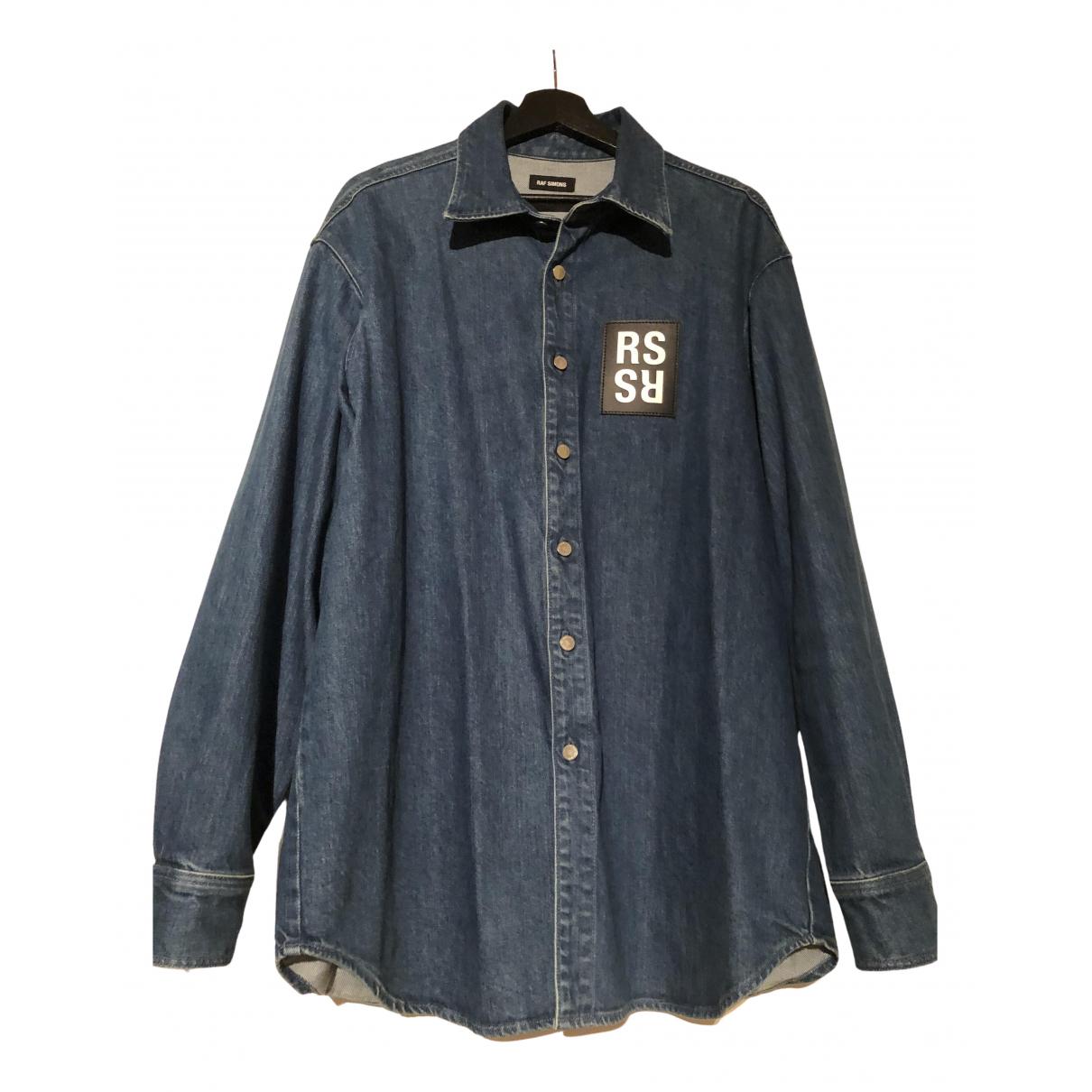 Raf Simons - Chemises   pour homme en denim - bleu