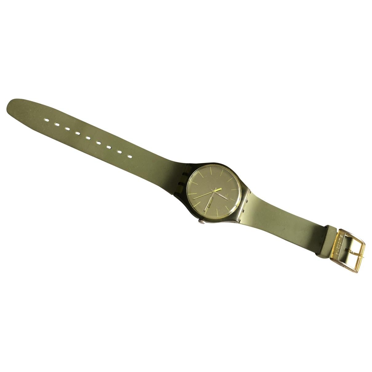 Swatch - Montre   pour homme en autre - kaki