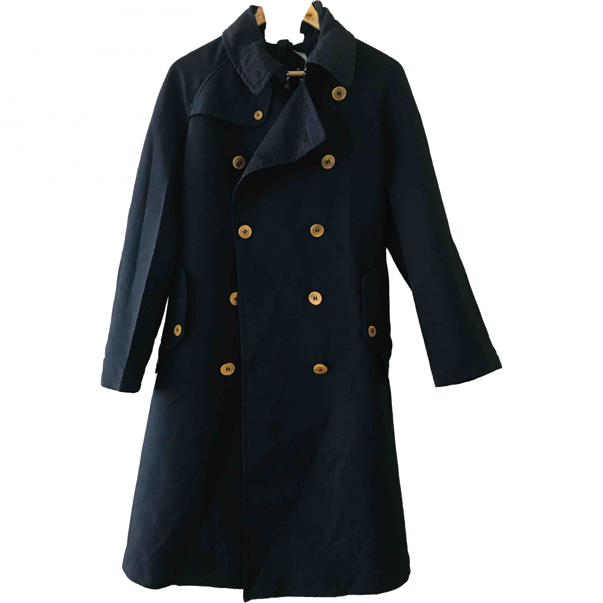 Comme Des Garcons \N Trench in  Marine Synthetik