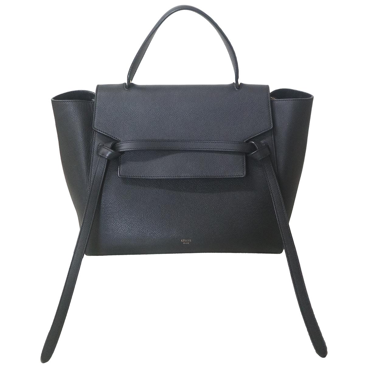 Celine Belt Black Leather handbag for Women N