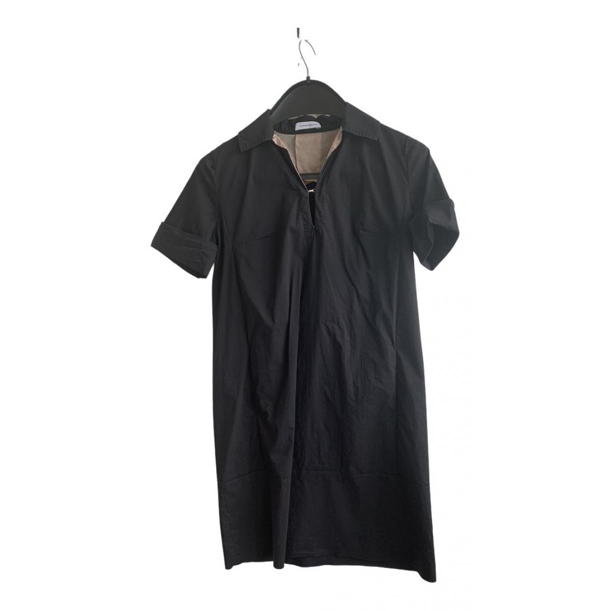 Costume National \N Kleid in  Schwarz Baumwolle