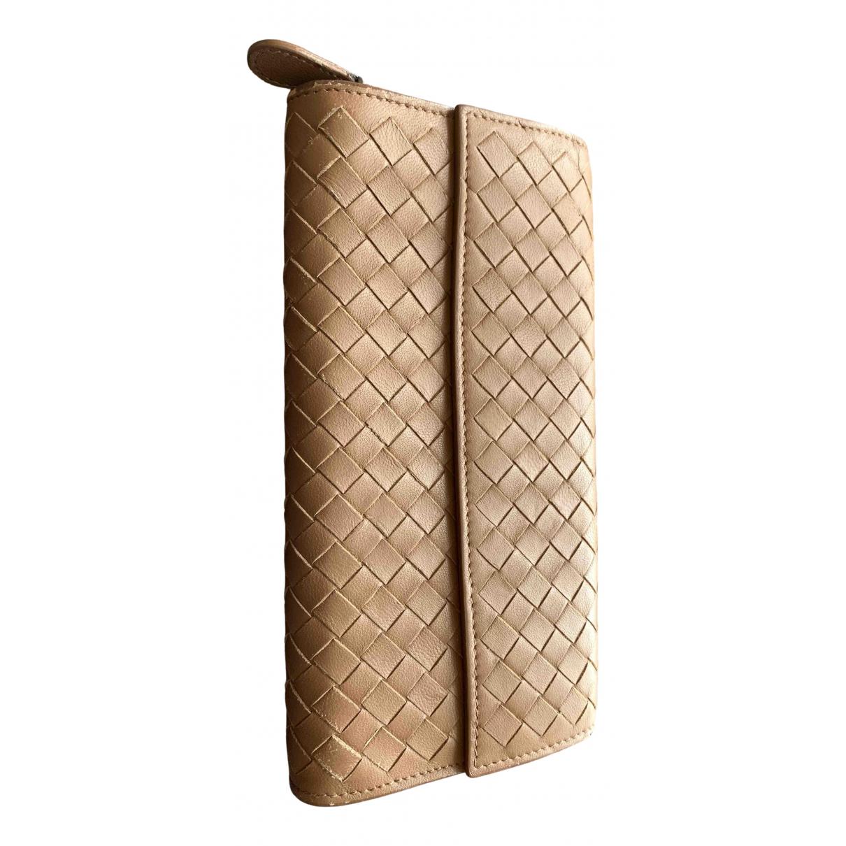 Bottega Veneta - Portefeuille   pour femme en cuir - marron