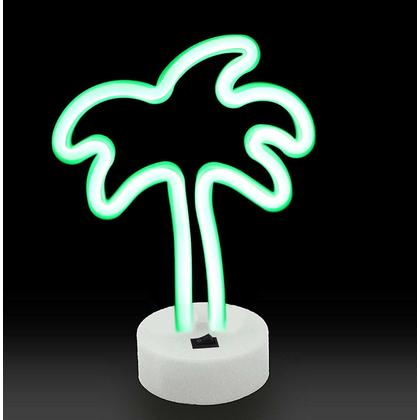 Neon Palm Tree Indoor Night Light with Holder