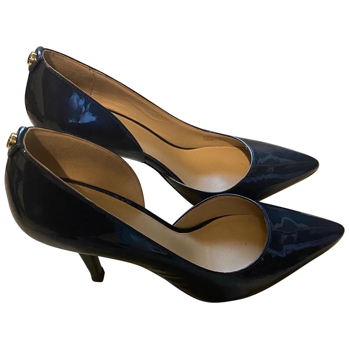 Michael Kors - Escarpins   pour femme en cuir - bleu