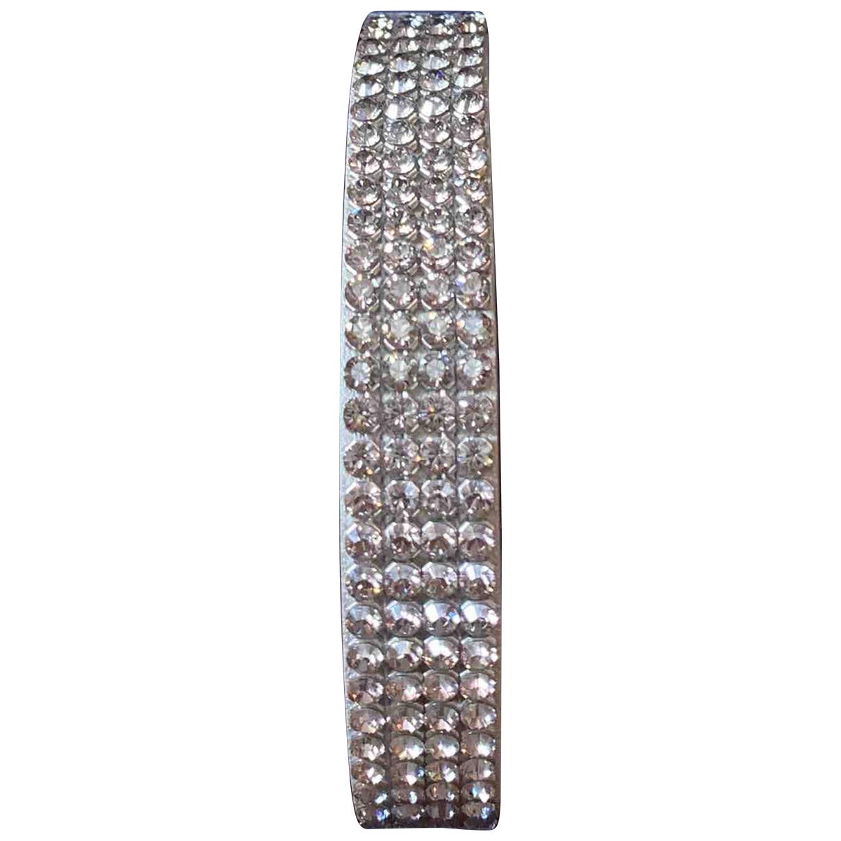 Swarovski \N Armband in  Weiss Leder