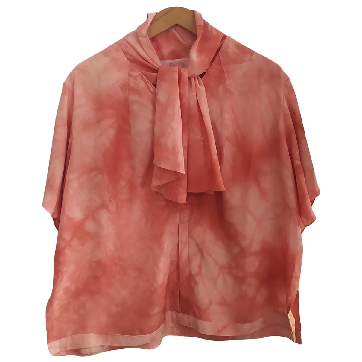 Non Signe / Unsigned Oversize Top in  Rosa Seide