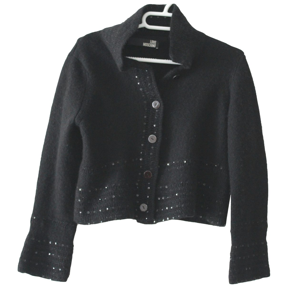 Moschino Love - Veste   pour femme en laine - noir