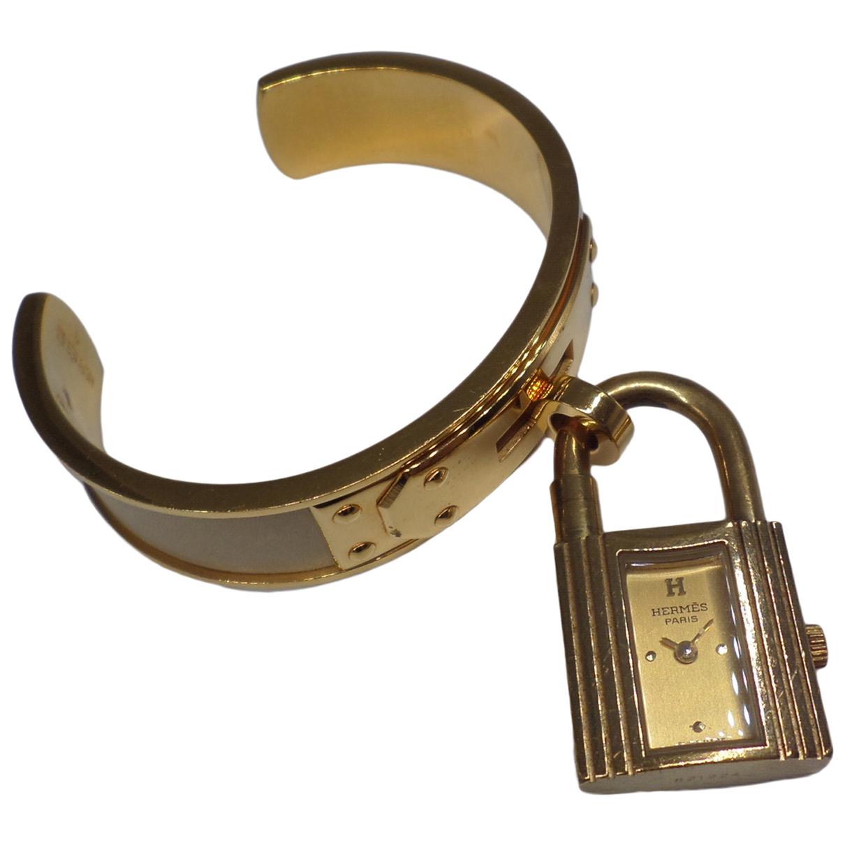 Hermes Kelly Uhr Gold