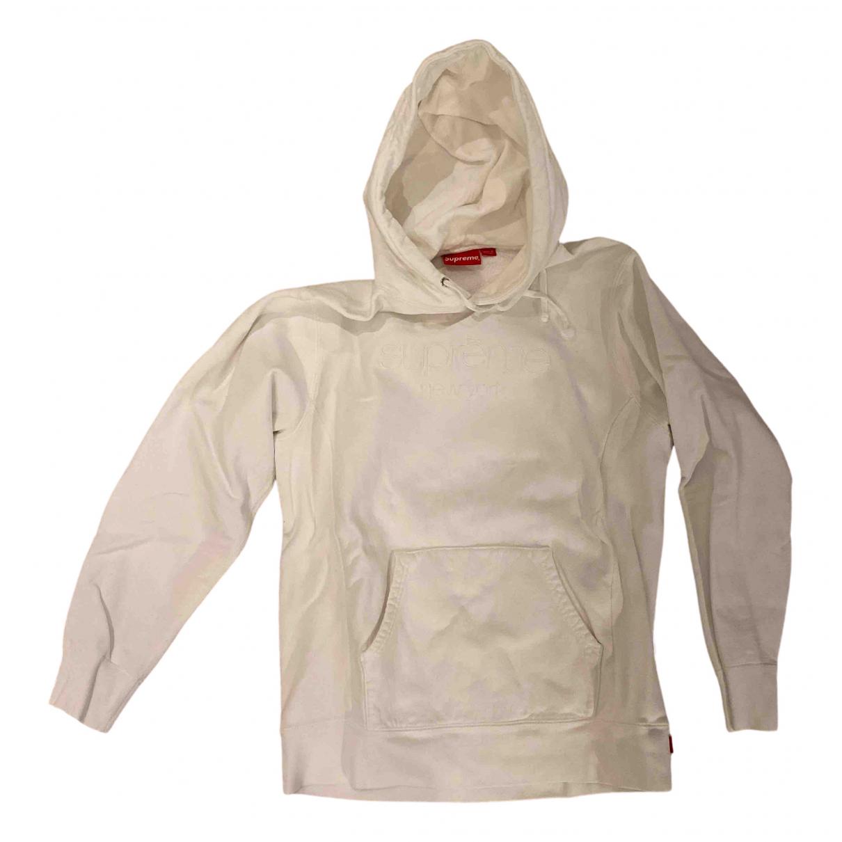 Supreme \N White Cotton Knitwear & Sweatshirts for Men L International