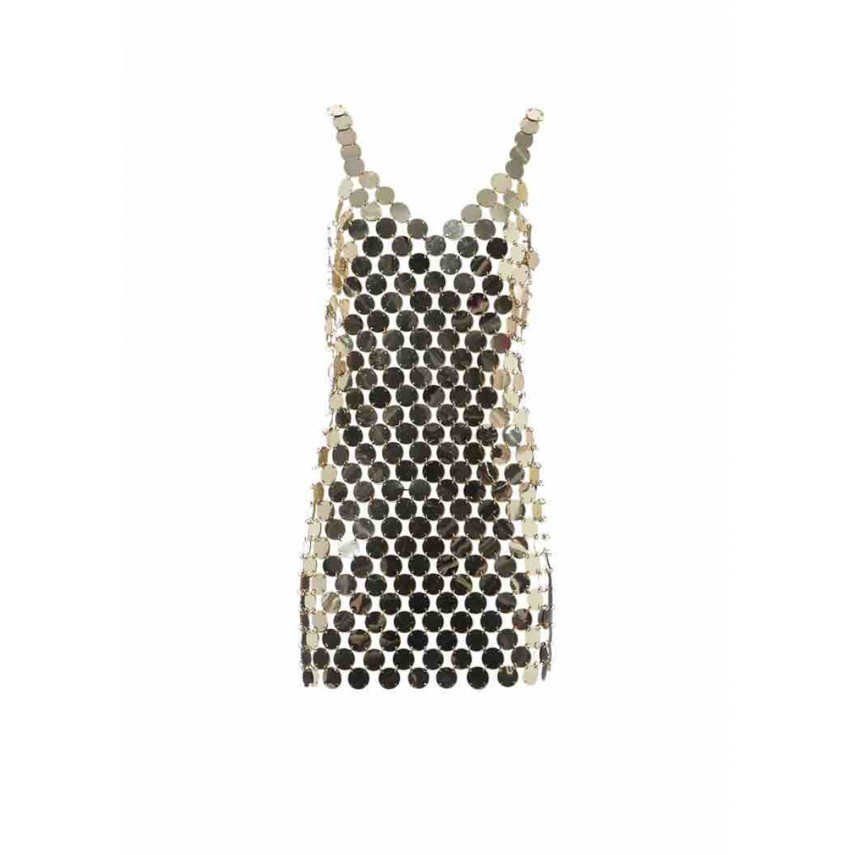 Paco Rabanne \N Gold Glitter dress for Women 38 FR