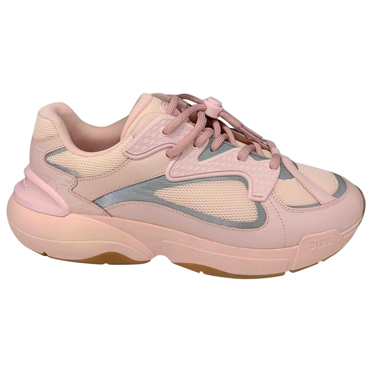 Dior - Baskets   pour femme en cuir - rose