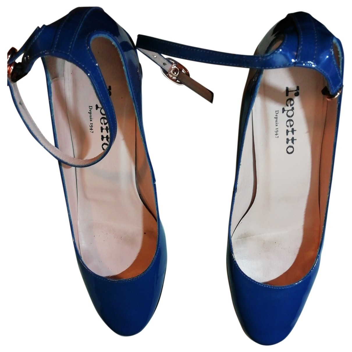 Repetto \N Blue Patent leather Heels for Women 38 EU