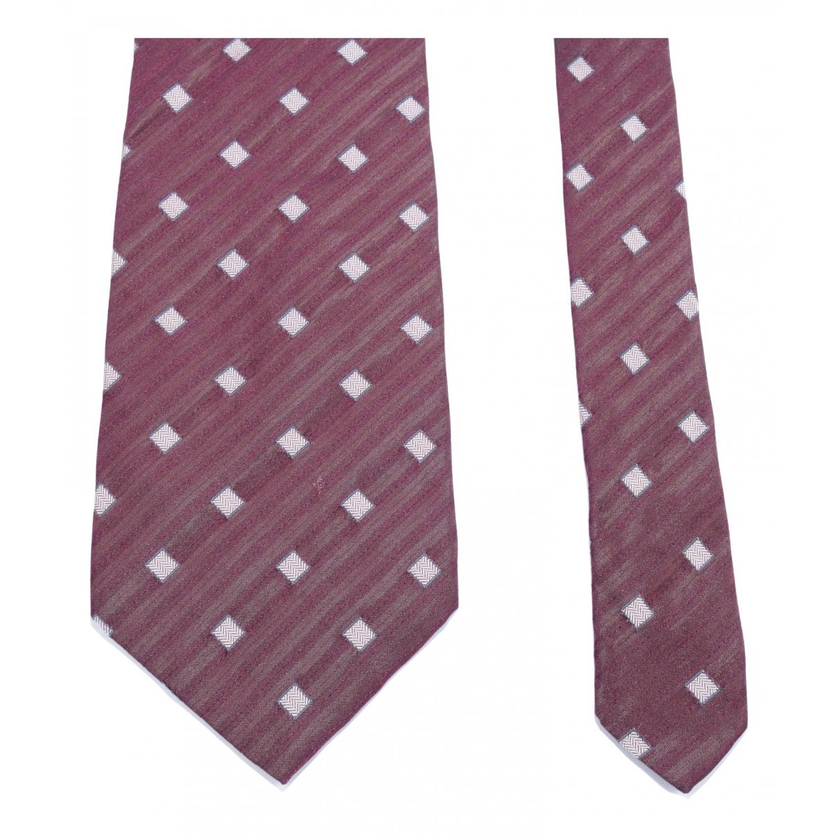 Yves Saint Laurent - Cravates   pour homme en soie - bordeaux