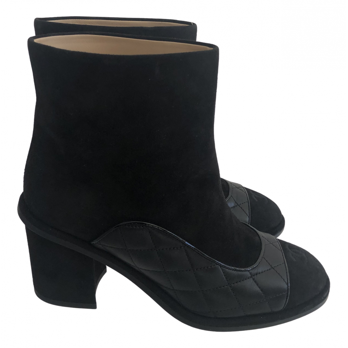 Chanel N Black Suede Boots for Women 37 EU