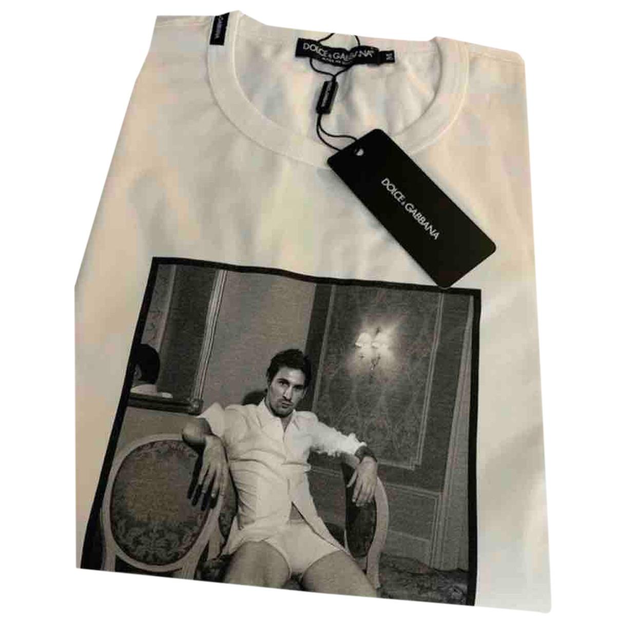 Dolce & Gabbana N White Cotton T-shirts for Men M International