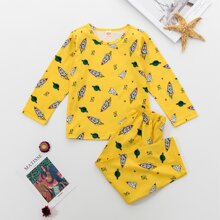 Toddler Boys Rocket & Planet Print PJ Set