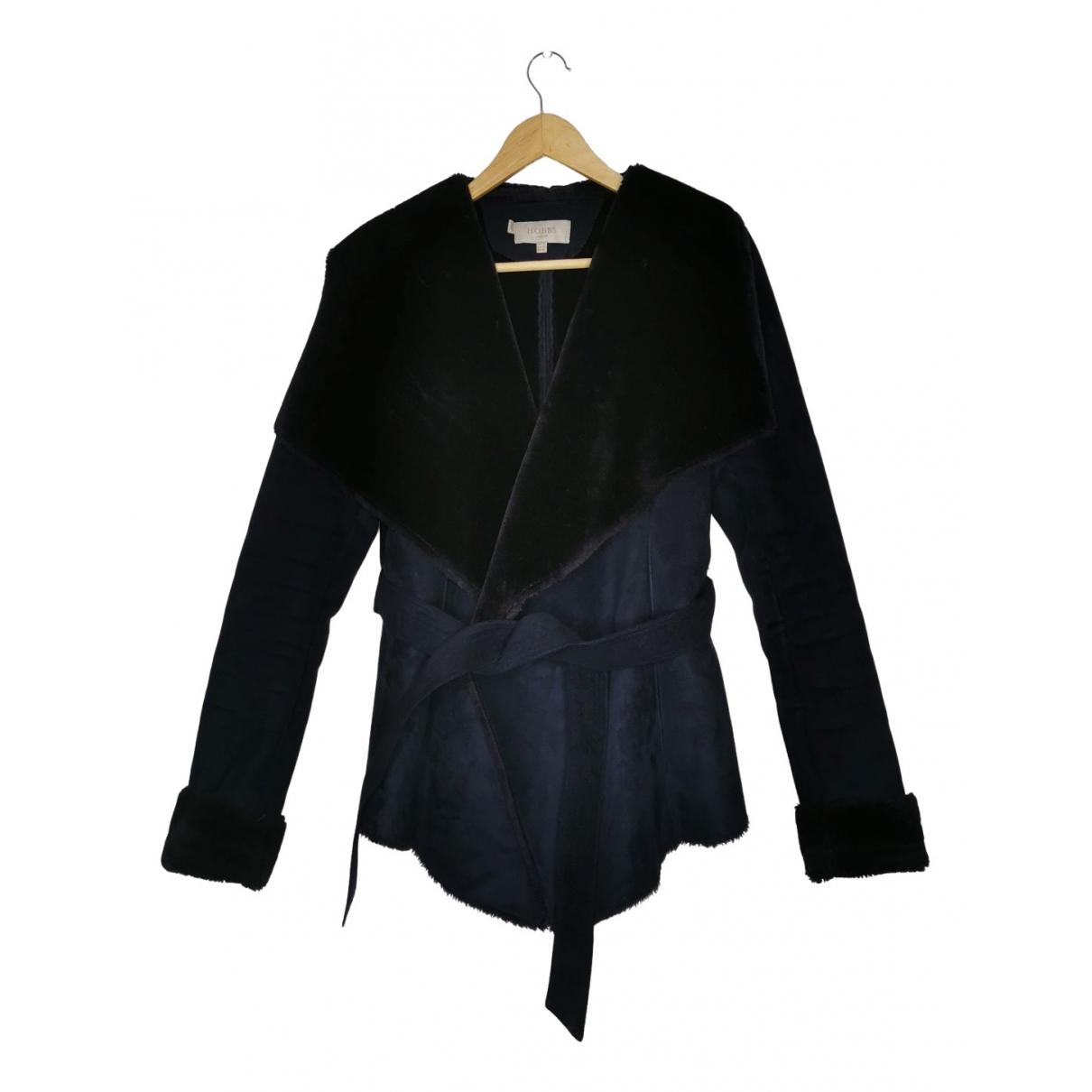 Hobbs - Manteau   pour femme en fourrure synthetique - marine