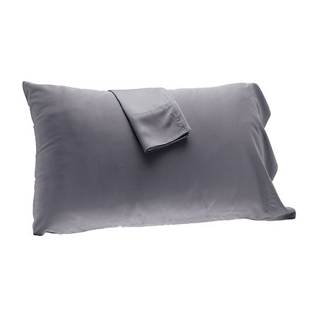 BedVoyage Set of 2 300tc Rayon from Bamboo Pillowcases, One Size , Gray